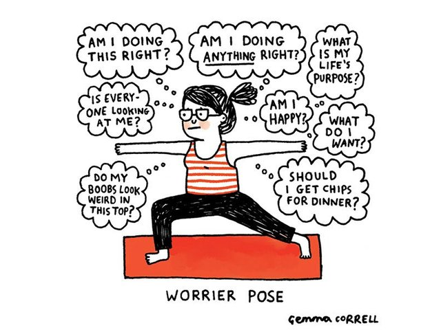 worrier pose gemma correll anxiety
