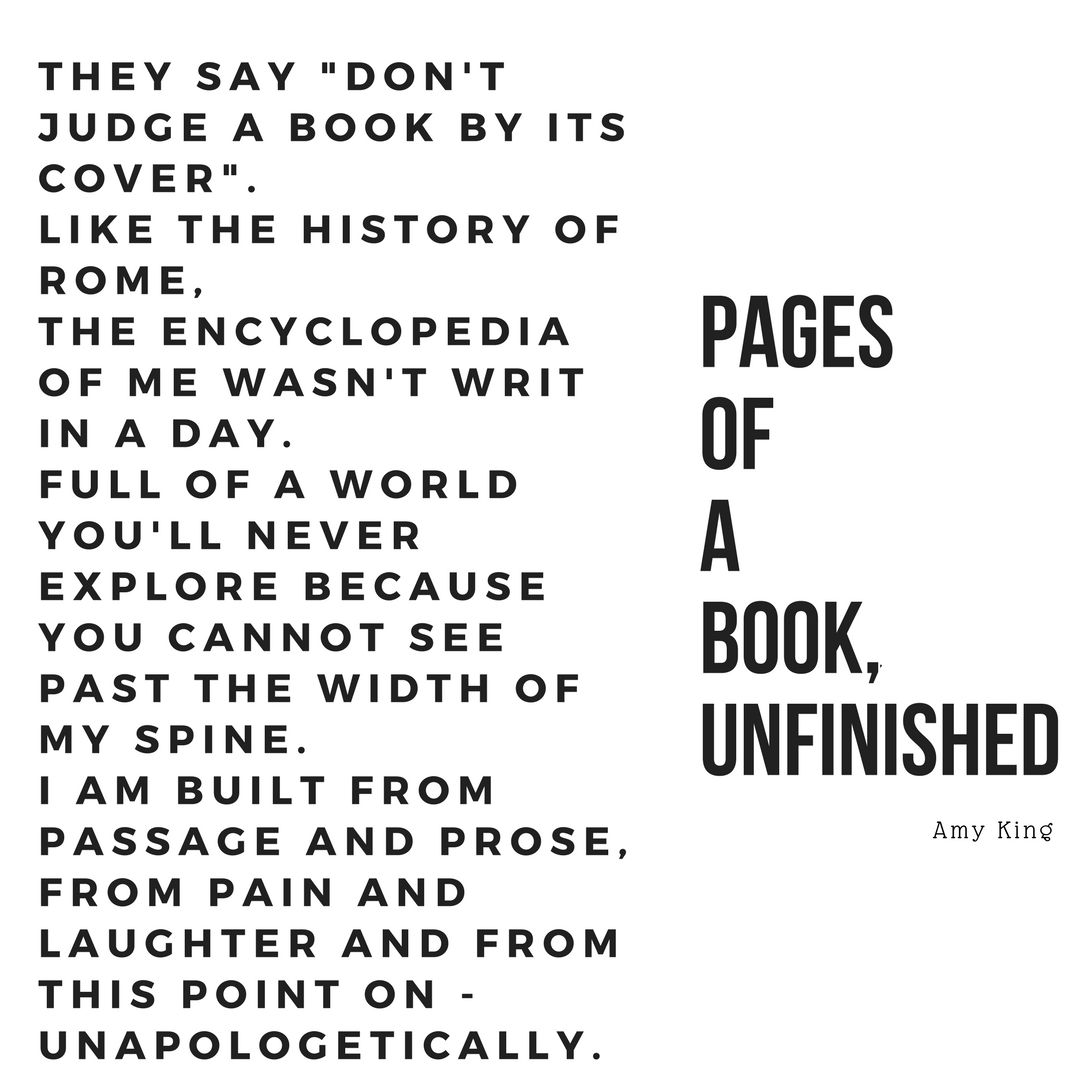 pages of a book unfinished poem